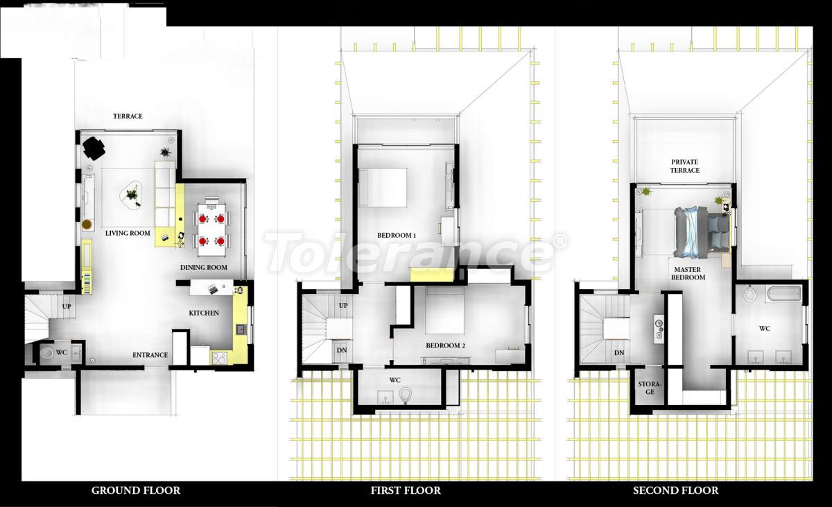 Роскошные виллы в Белеке, Анталия с индивидуальным бассейном - 14284 | Tolerance Homes
