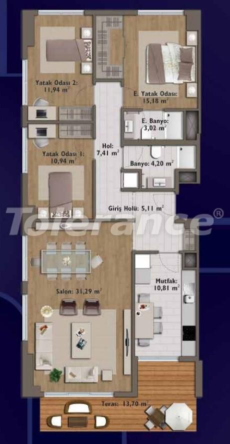 Элитные квартиры в Стамбуле в современном комплексе с развитой инфраструктурой - 14323 | Tolerance Homes