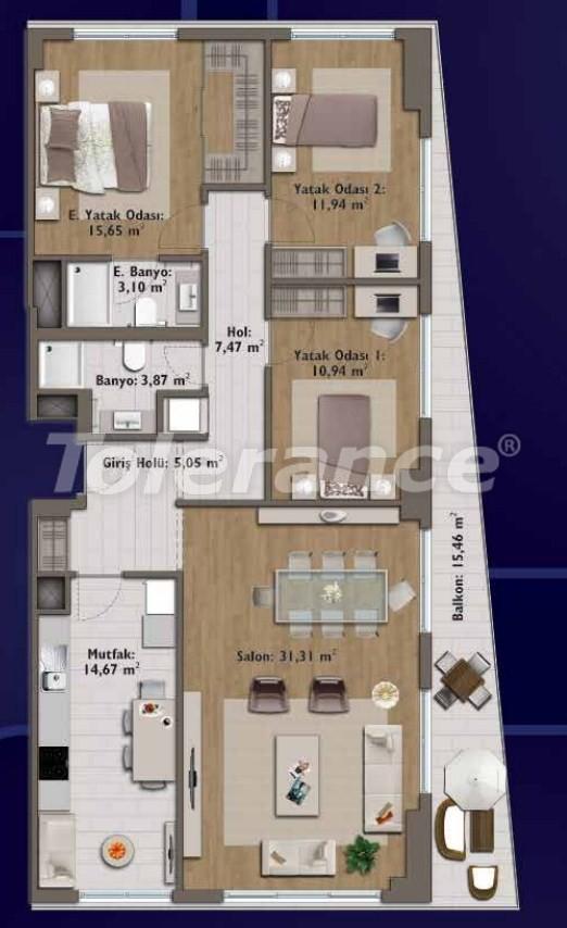 Элитные квартиры в Стамбуле в современном комплексе с развитой инфраструктурой - 14326 | Tolerance Homes