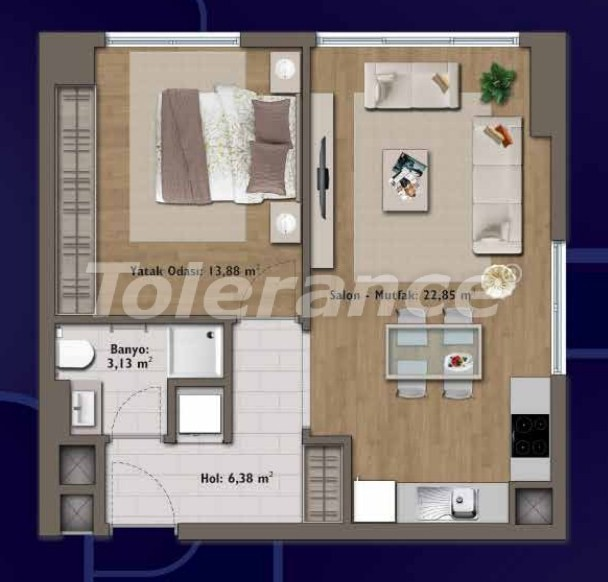 Элитные квартиры в Стамбуле в современном комплексе с развитой инфраструктурой - 14305 | Tolerance Homes