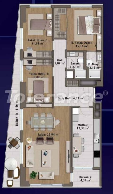 Элитные квартиры в Стамбуле в современном комплексе с развитой инфраструктурой - 14324 | Tolerance Homes