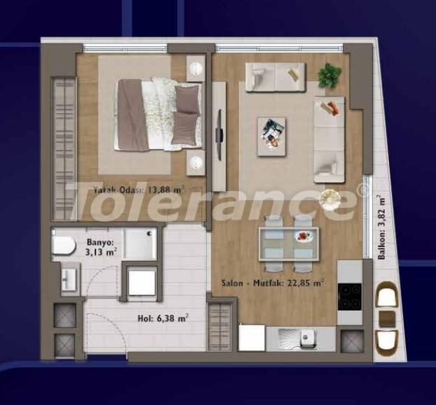 Элитные квартиры в Стамбуле в современном комплексе с развитой инфраструктурой - 14306 | Tolerance Homes