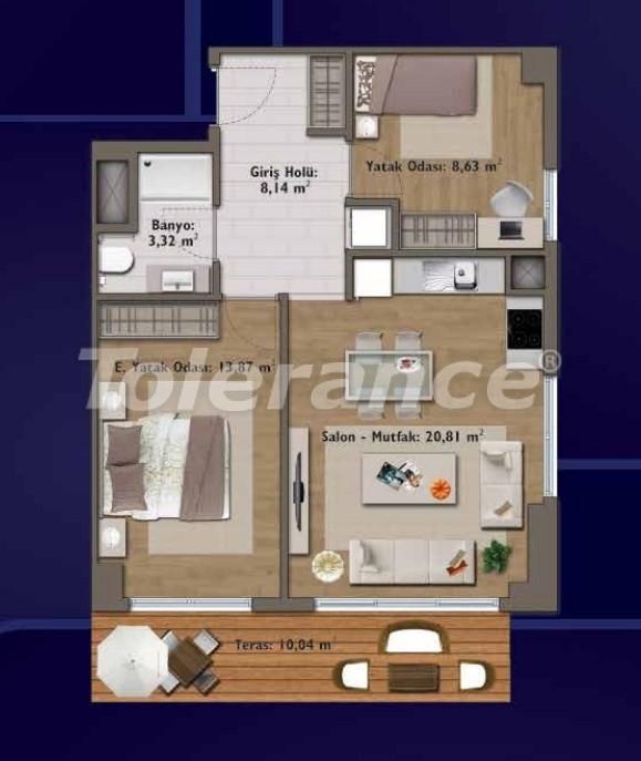 Элитные квартиры в Стамбуле в современном комплексе с развитой инфраструктурой - 14318 | Tolerance Homes