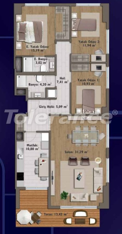 Элитные квартиры в Стамбуле в современном комплексе с развитой инфраструктурой - 14329 | Tolerance Homes