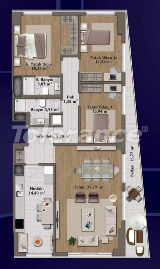 Элитные квартиры в Стамбуле в современном комплексе с развитой инфраструктурой - 14328 | Tolerance Homes