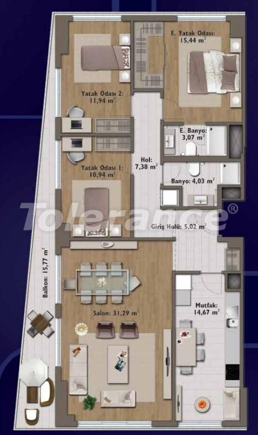 Элитные квартиры в Стамбуле в современном комплексе с развитой инфраструктурой - 14322 | Tolerance Homes