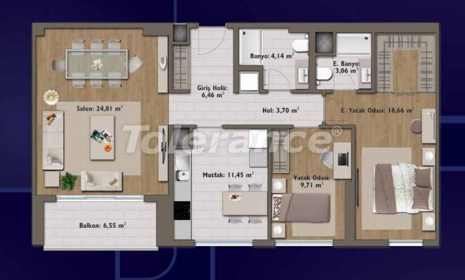 Элитные квартиры в Стамбуле в современном комплексе с развитой инфраструктурой - 14319 | Tolerance Homes