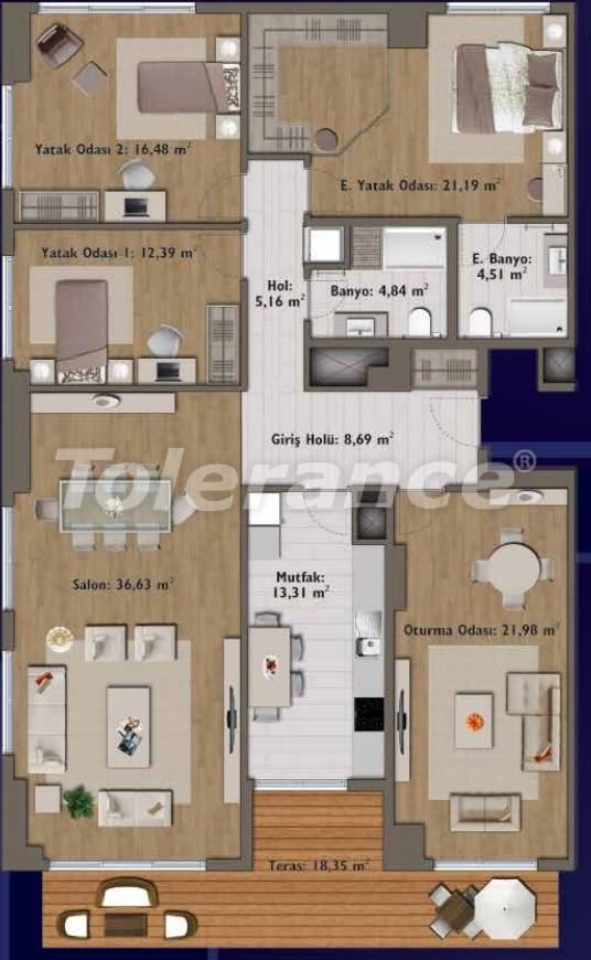 Элитные квартиры в Стамбуле в современном комплексе с развитой инфраструктурой - 14301 | Tolerance Homes