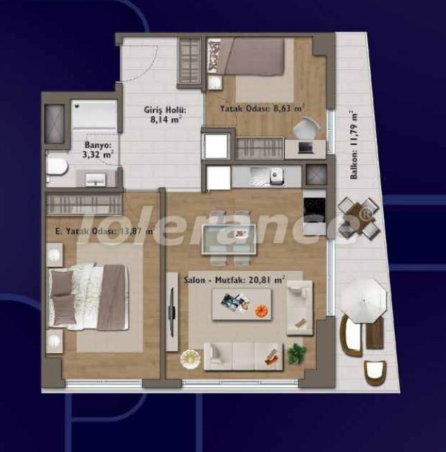 Элитные квартиры в Стамбуле в современном комплексе с развитой инфраструктурой - 14317 | Tolerance Homes