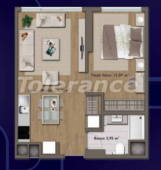 Элитные квартиры в Стамбуле в современном комплексе с развитой инфраструктурой - 14307 | Tolerance Homes