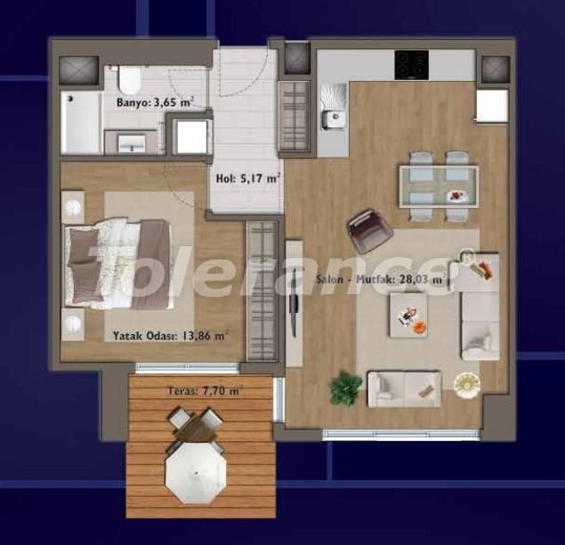 Элитные квартиры в Стамбуле в современном комплексе с развитой инфраструктурой - 14304 | Tolerance Homes