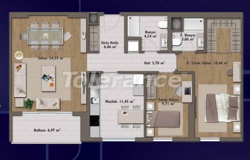 Элитные квартиры в Стамбуле в современном комплексе с развитой инфраструктурой - 14313 | Tolerance Homes