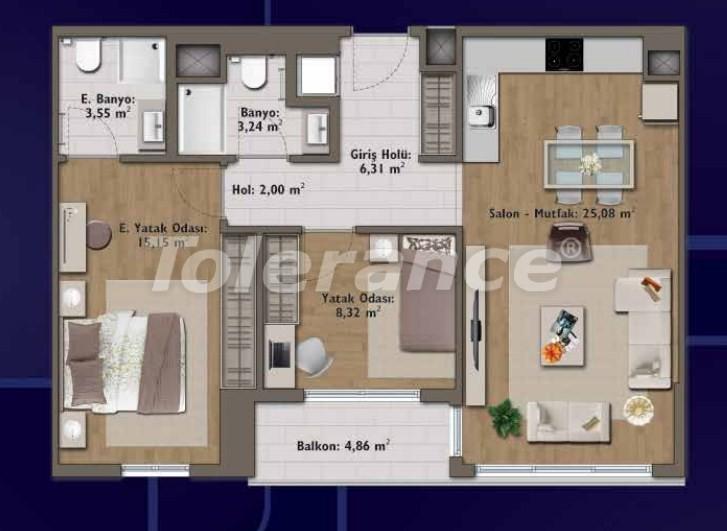 Элитные квартиры в Стамбуле в современном комплексе с развитой инфраструктурой - 14321 | Tolerance Homes