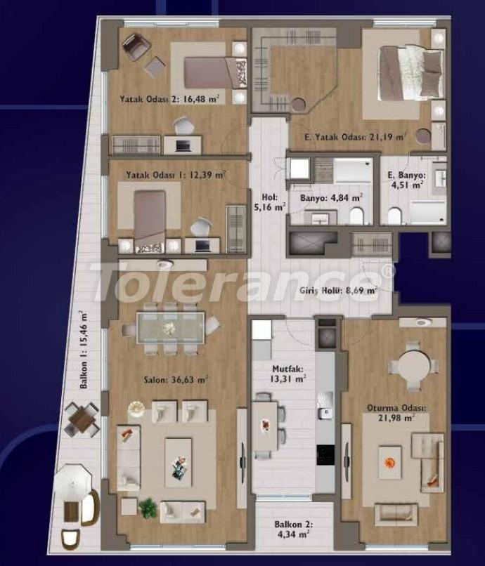Элитные квартиры в Стамбуле в современном комплексе с развитой инфраструктурой - 14300 | Tolerance Homes