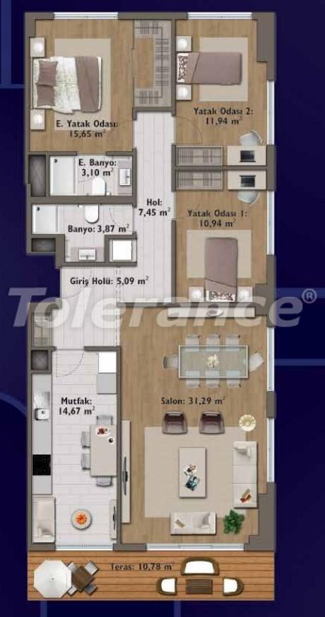 Элитные квартиры в Стамбуле в современном комплексе с развитой инфраструктурой - 14327 | Tolerance Homes