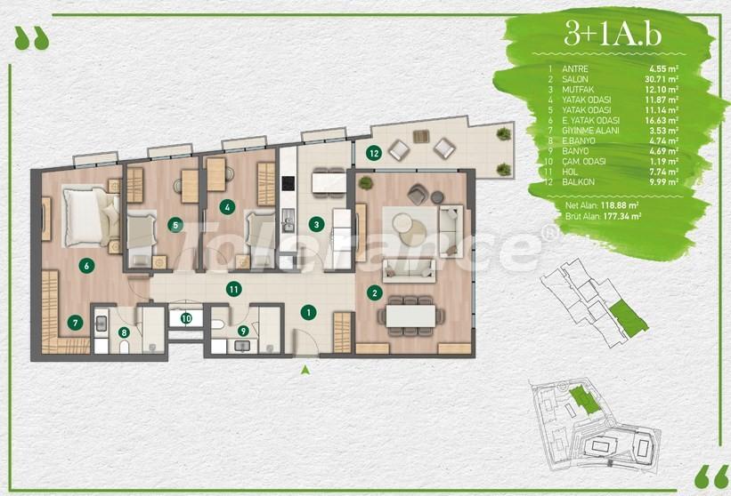 Квартиры в Стамбуле в комплексе с развитой инфраструктурой - 14356 | Tolerance Homes