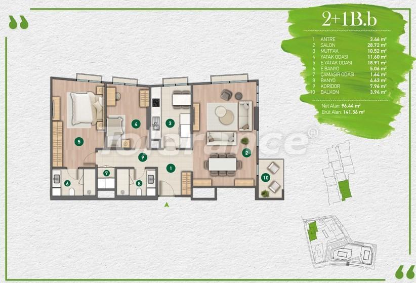 Квартиры в Стамбуле в комплексе с развитой инфраструктурой - 14355 | Tolerance Homes