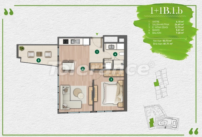 Квартиры в Стамбуле в комплексе с развитой инфраструктурой - 14340 | Tolerance Homes