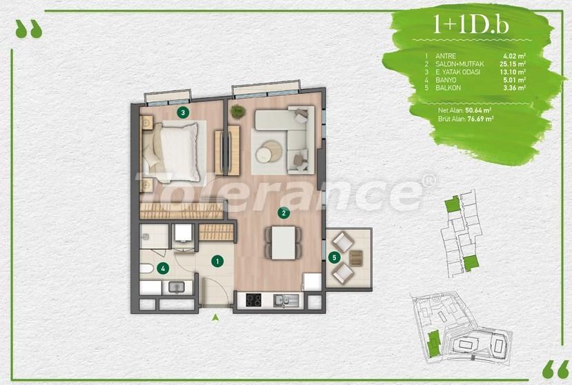Квартиры в Стамбуле в комплексе с развитой инфраструктурой - 14348 | Tolerance Homes