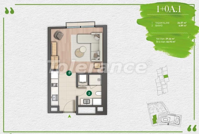 Квартиры в Стамбуле в комплексе с развитой инфраструктурой - 14337 | Tolerance Homes