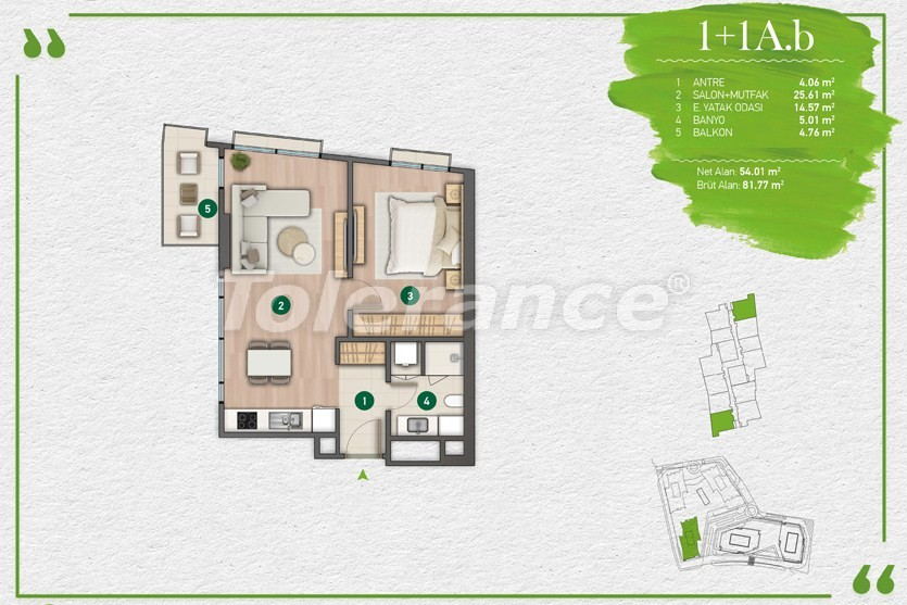 Квартиры в Стамбуле в комплексе с развитой инфраструктурой - 14339 | Tolerance Homes