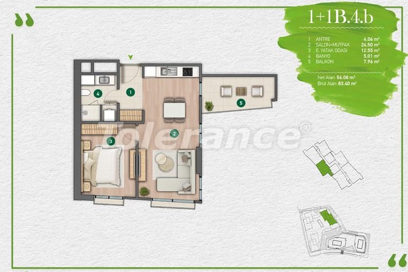 Квартиры в Стамбуле в комплексе с развитой инфраструктурой - 14343 | Tolerance Homes