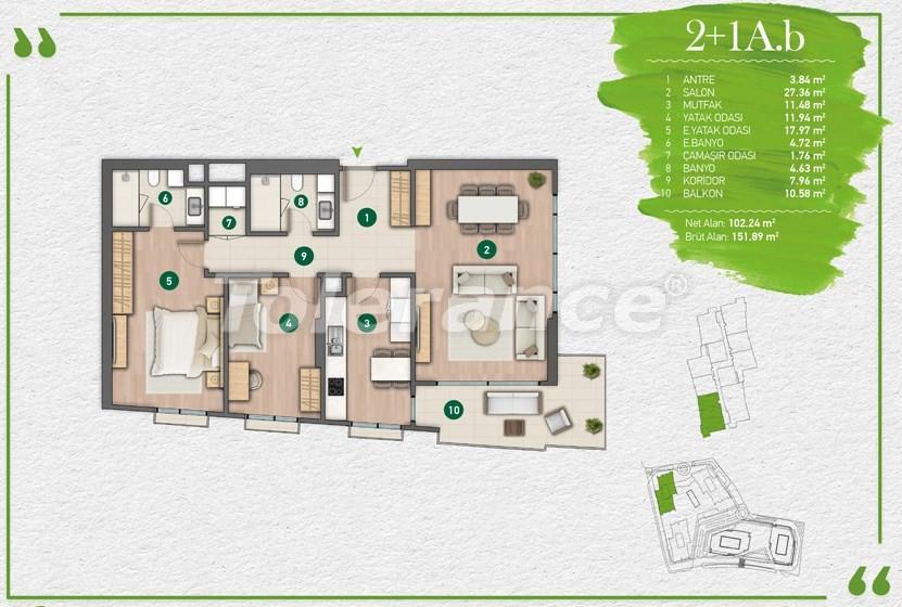 Квартиры в Стамбуле в комплексе с развитой инфраструктурой - 14349 | Tolerance Homes