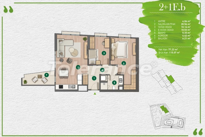 Квартиры в Стамбуле в комплексе с развитой инфраструктурой - 14354 | Tolerance Homes