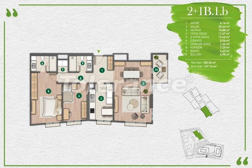 Квартиры в Стамбуле в комплексе с развитой инфраструктурой - 14350 | Tolerance Homes