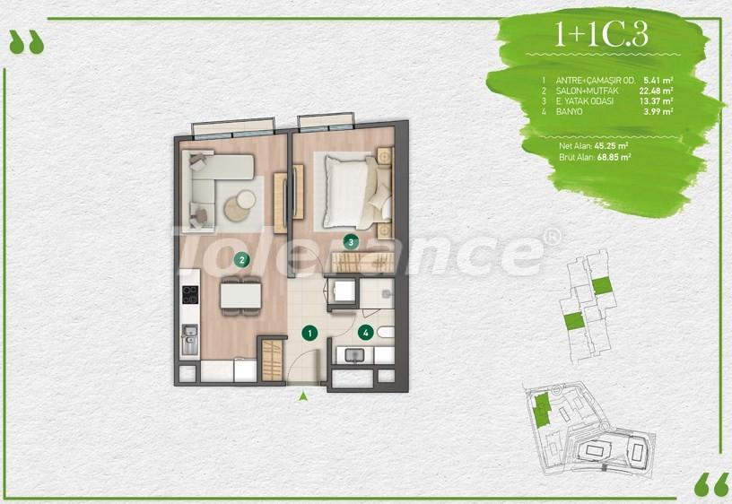 Квартиры в Стамбуле в комплексе с развитой инфраструктурой - 14346 | Tolerance Homes