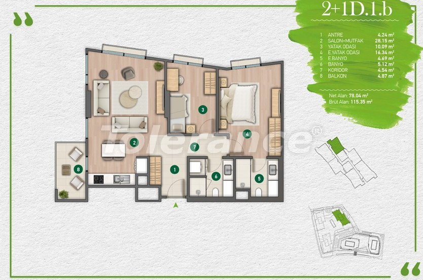 Квартиры в Стамбуле в комплексе с развитой инфраструктурой - 14352 | Tolerance Homes