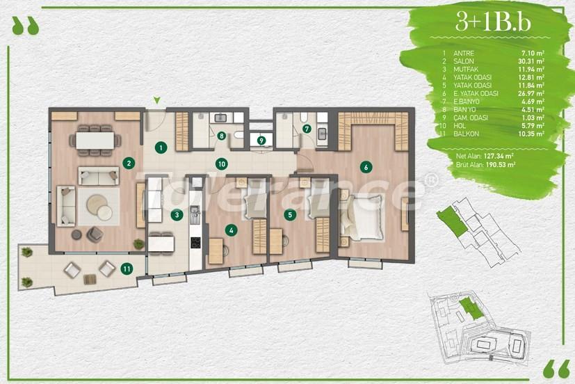 Квартиры в Стамбуле в комплексе с развитой инфраструктурой - 14357 | Tolerance Homes