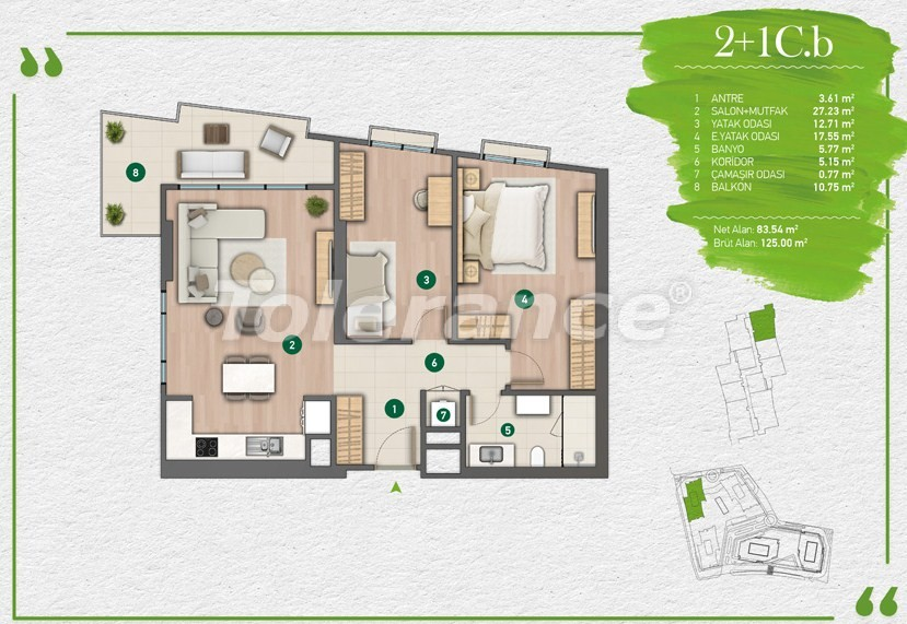 Квартиры в Стамбуле в комплексе с развитой инфраструктурой - 14351 | Tolerance Homes