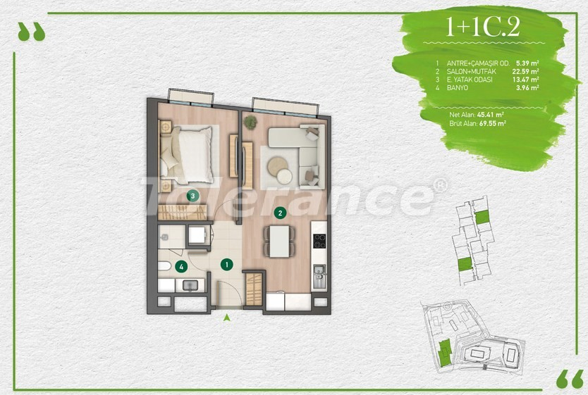 Квартиры в Стамбуле в комплексе с развитой инфраструктурой - 14345 | Tolerance Homes