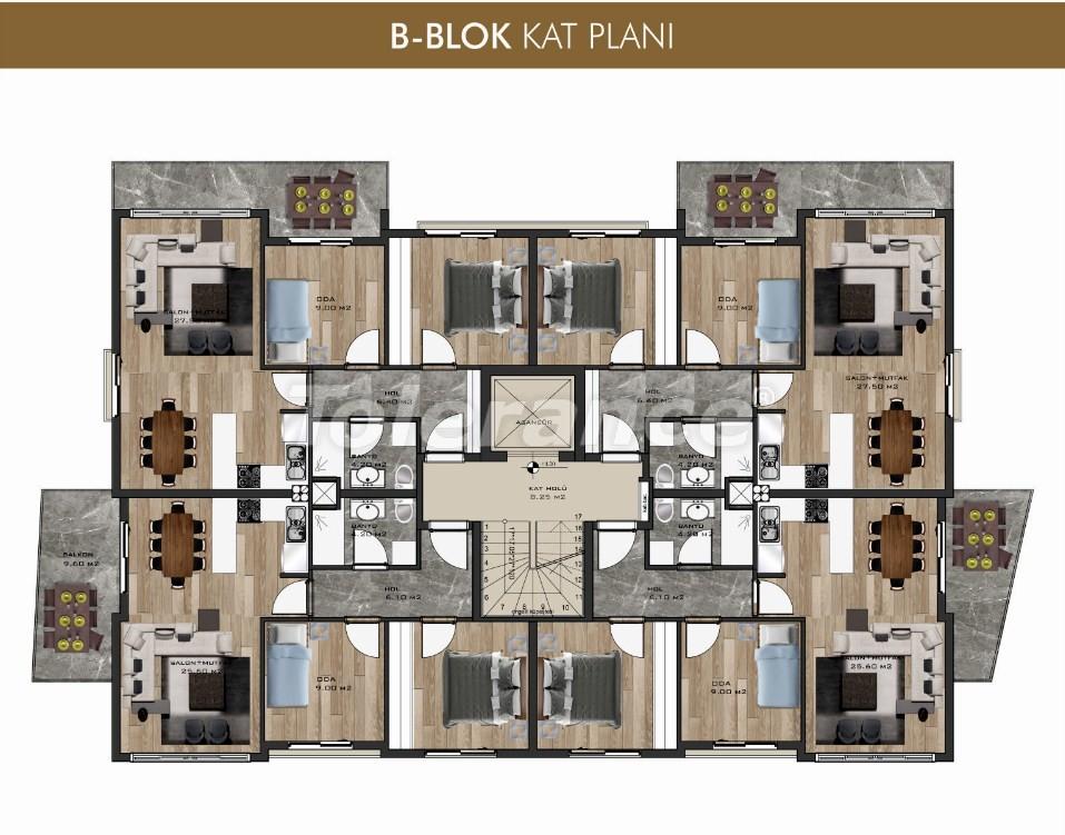 Трехкомнатные квартиры в центре Кушадасы - 14380   Tolerance Homes