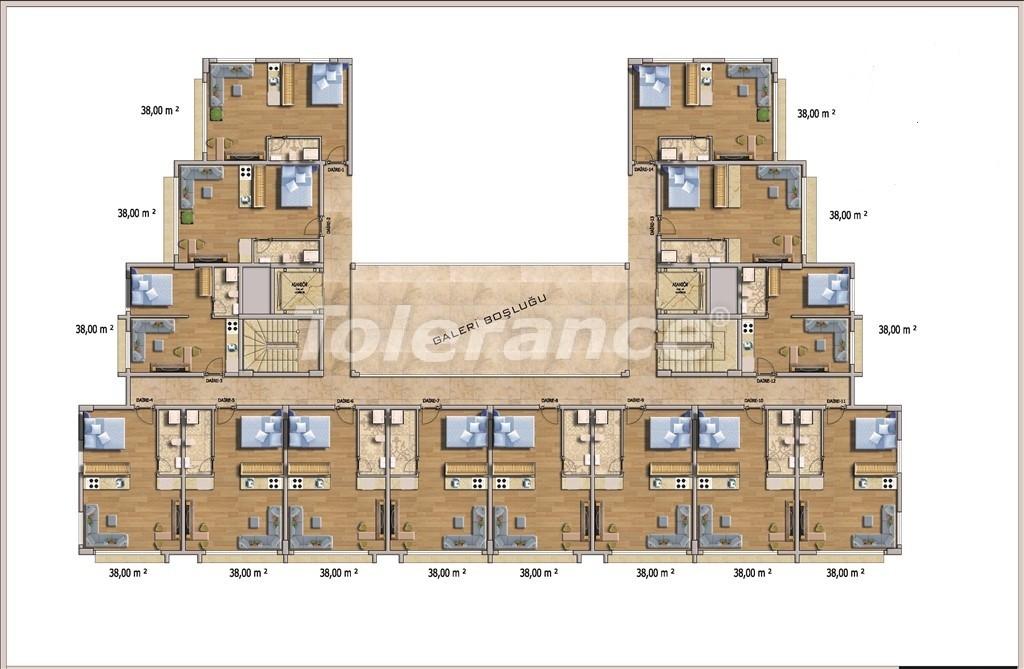 Недорогие квартиры в Алании в современном комплексе с бассейном - 14583   Tolerance Homes