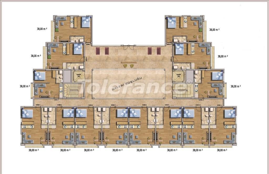 Недорогие квартиры в Алании в современном комплексе с бассейном - 14582   Tolerance Homes