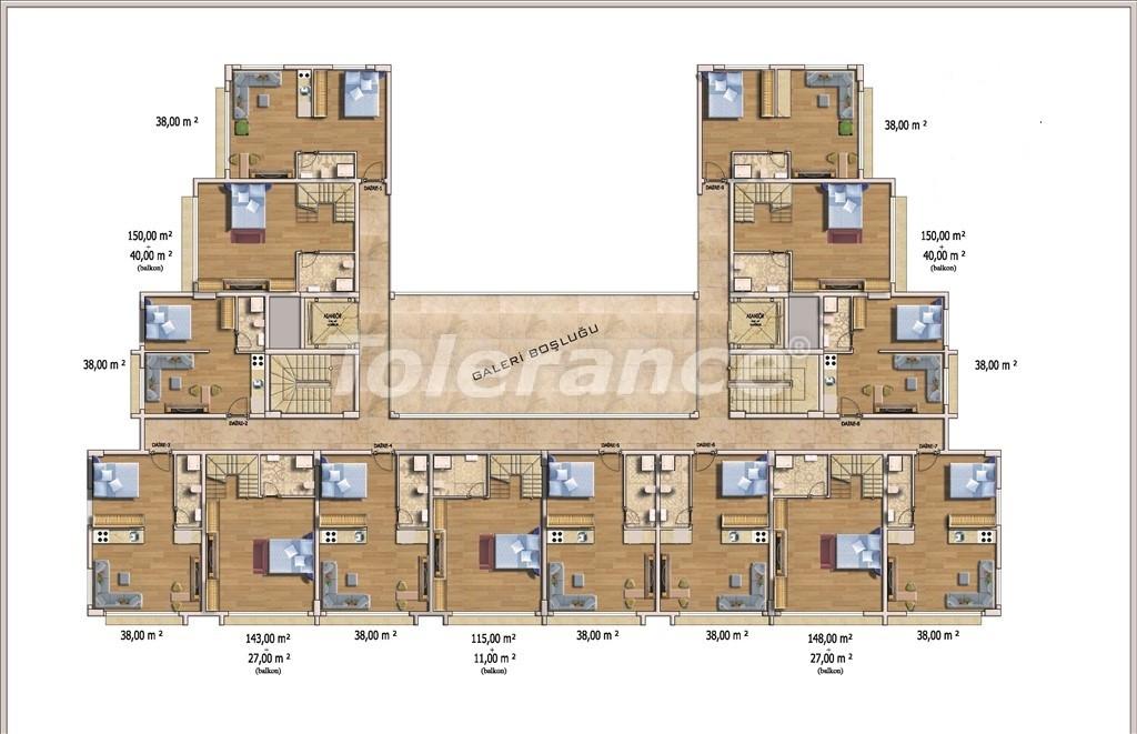 Недорогие квартиры в Алании в современном комплексе с бассейном - 14580   Tolerance Homes