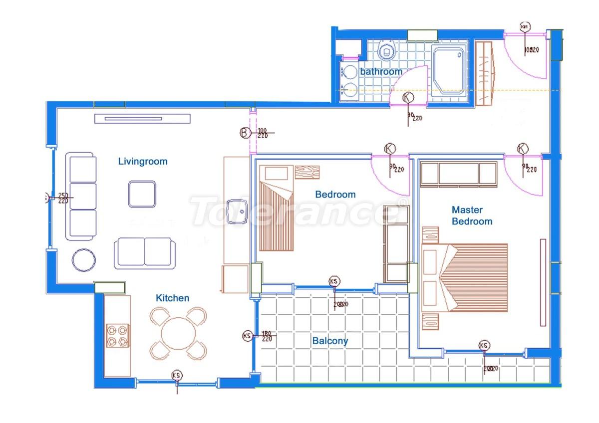 Комфортабельные апартаменты в Махмутларе, Алания рядом с морем - 14713 | Tolerance Homes