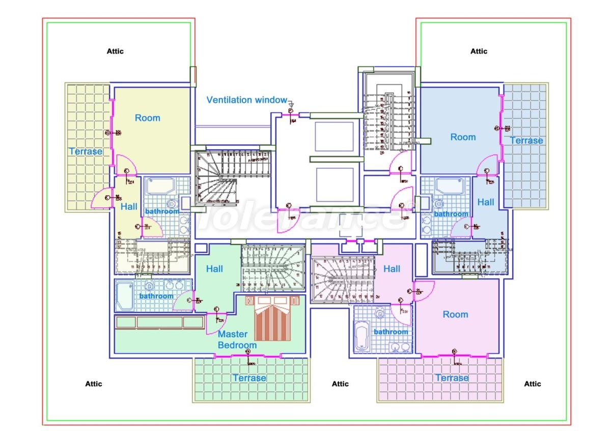 Комфортабельные апартаменты в Махмутларе, Алания рядом с морем - 14710 | Tolerance Homes