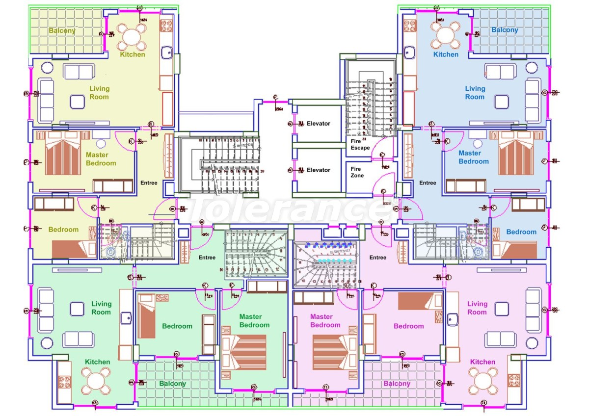 Комфортабельные апартаменты в Махмутларе, Алания рядом с морем - 14711 | Tolerance Homes