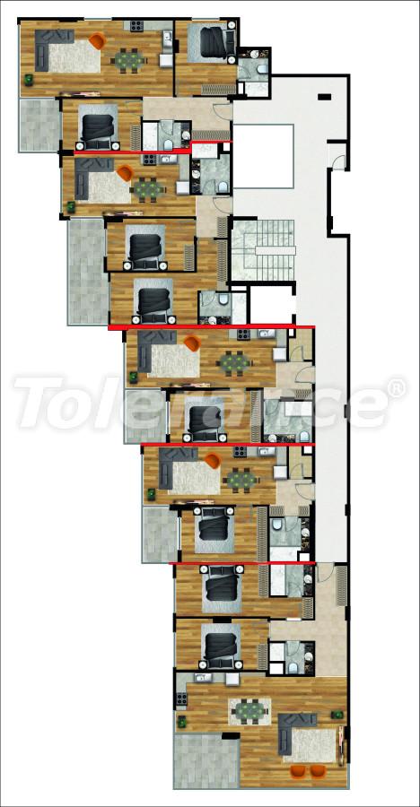 Квартиры в Махмутлар, Алания в новом комплексе с комфортом роскошного отеля - 14853 | Tolerance Homes