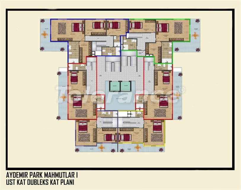 Недорогие квартиры в Махмутлар, Алания  всего в 450 метрах от пляжа - 14915   Tolerance Homes