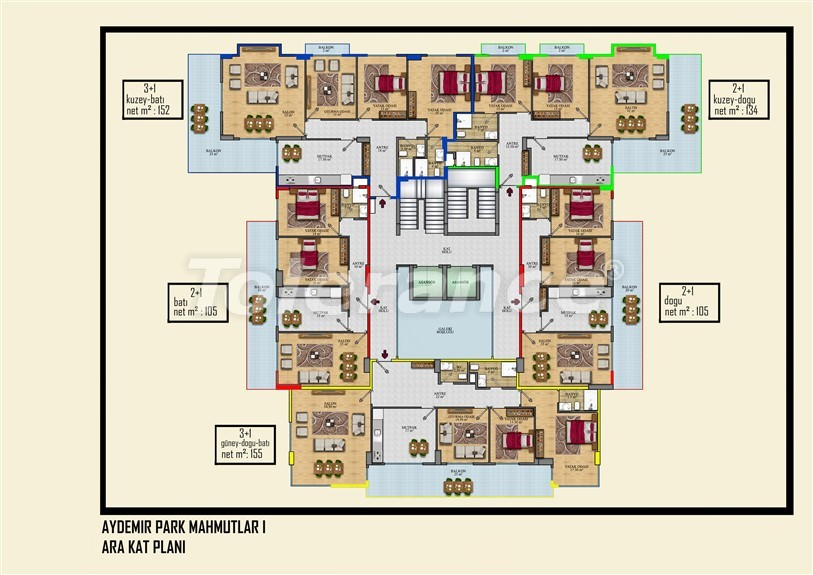 Недорогие квартиры в Махмутлар, Алания  всего в 450 метрах от пляжа - 14913   Tolerance Homes