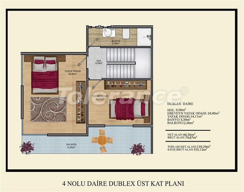 Недорогие квартиры в Махмутлар, Алания  всего в 450 метрах от пляжа - 14923 | Tolerance Homes