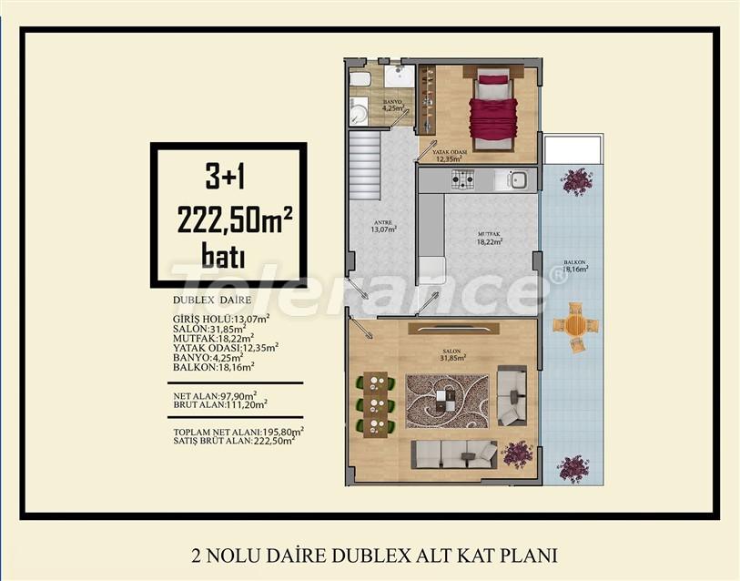 Недорогие квартиры в Махмутлар, Алания  всего в 450 метрах от пляжа - 14918 | Tolerance Homes