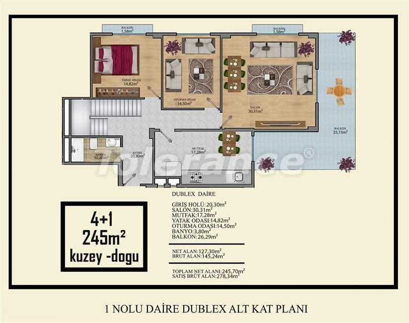 Недорогие квартиры в Махмутлар, Алания  всего в 450 метрах от пляжа - 14916 | Tolerance Homes
