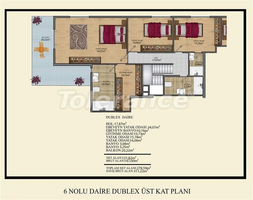 Недорогие квартиры в Махмутлар, Алания  всего в 450 метрах от пляжа - 14927 | Tolerance Homes
