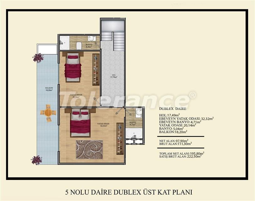 Недорогие квартиры в Махмутлар, Алания  всего в 450 метрах от пляжа - 14925 | Tolerance Homes