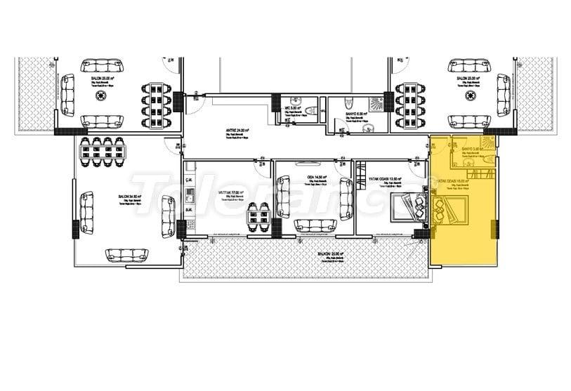 Недорогие квартиры в Махмутлар, Алания  всего в 450 метрах от пляжа - 14912 | Tolerance Homes